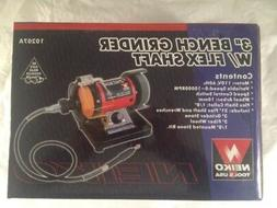 """Neiko 10207A 3"""" Mini Bench Grinder and Polisher with Flexibl"""