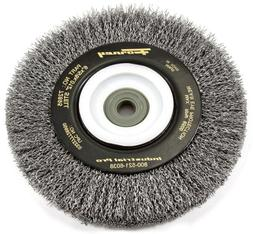 Forney 72895 Wire Bench Wheel Brush, Industrial Pro Crimped