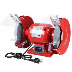 """8"""" Bench Grinder 1/2 HP 3450 RPM with Tool Rests Eye Shields"""