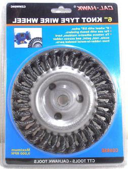 """6"""" x 5/8"""" ARBOR KNOTTED WIRE WHEEL BENCH GRINDER"""