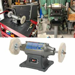 6 inch Benchtop Buffer Heavy Duty 12 HP; Includes two buffin