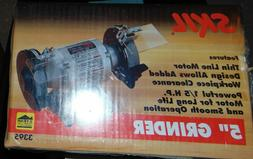 """Skil Electric Bench Grinder 5 in. 5"""" 1/5 H.P. 3395 NEW"""