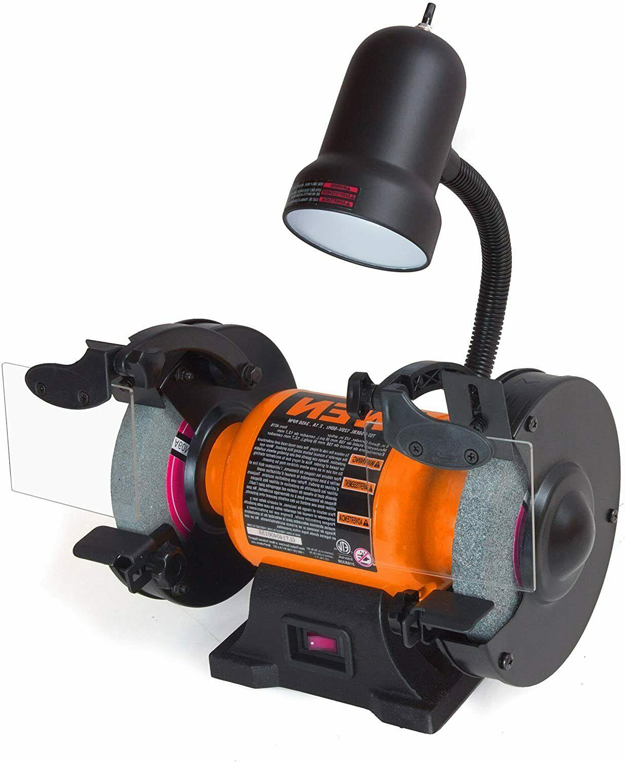 4276 2.1-Amp 6-Inch Bench Grinder with Flexible Work Light