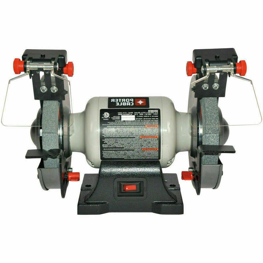 PORTER-CABLE 6-in Bench Grinder with Built-in Light Inductio