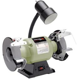 """Performance Tool Wilmar PTWW50001 6"""" Bench Grinder With Ligh"""