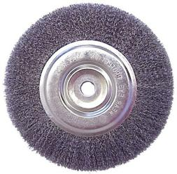 """Replacement 6"""" Inch Diameter Wire Brush Wheel for Bench Grin"""